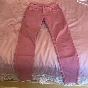 True Religion fitted pale pink jeans size 26